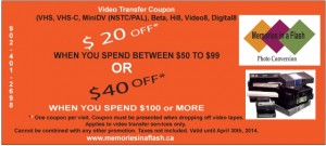 Video transfer coupon